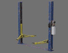 Two Post Lift 1D 3D asset