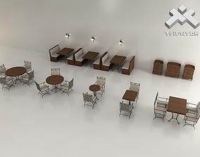 Restaurant furniture set 3D model