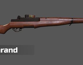 M1 Garand and Magazine Game Ready Assets VR / AR ready