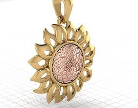 3D printable model sunflower