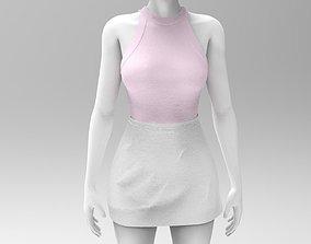Skirt and Tank Top - Marvelous Designer - Project 3D model