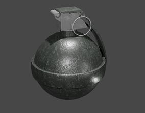 frag grenade 3D asset realtime