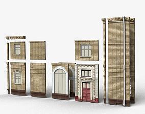 3D asset Modular brick house