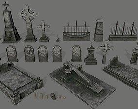 tombstone set 3D asset realtime