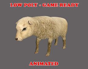 3D asset Low poly Sheep Animated - Game Ready