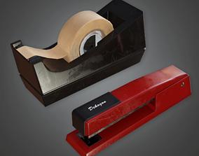 CLA - Tape Dispenser - PBR Game Ready 3D asset