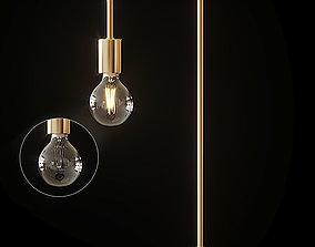 CB2 ANTIQUE BRASS ARC TABLE LAMP brass 3D