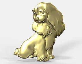 3D print model Pendant of Lady dog