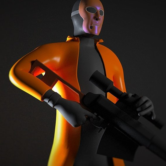 "CGI Animated Short ""Assassination"" Characters"