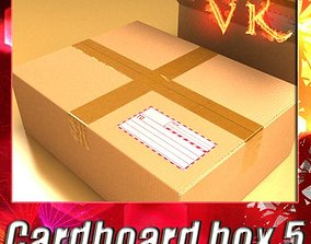 3D model Cardboard Box with Tape