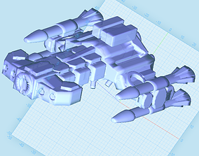 3D printable model Terran battlecruiser starcraft
