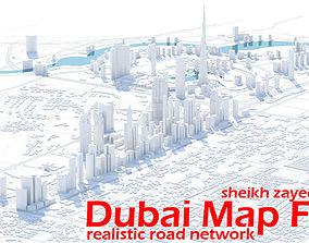 Dubai Skyline - sheikh zayed road 3D model