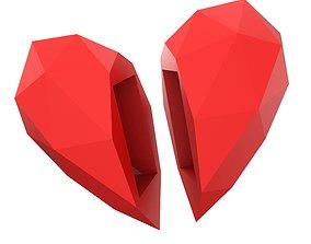 3D print model Low Poly Heart Casket