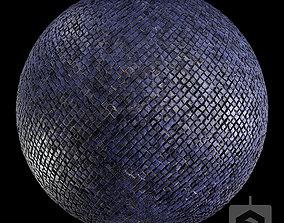 3D asset Blue mosaic tile