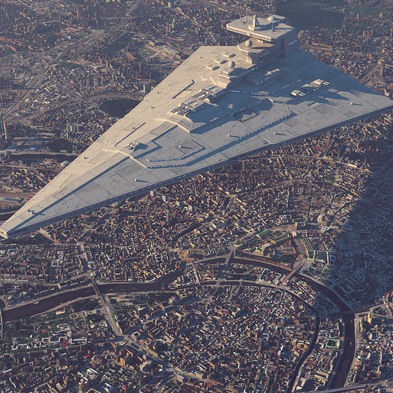 Star Cruiser over Moscow