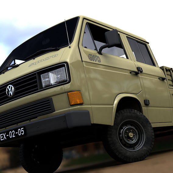 VOLKSWAGEN TRANSPORTER DOUBLE CAB SYNCRO 1987