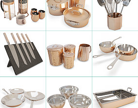 Copper Cooking Tools Collection 3D