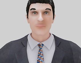 Business man people 3D model