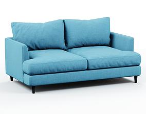 Soft sofa fabric blue 2 3D