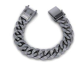 3D printable model Chain Bracelets 01 With Diamond Stone