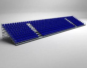 Stadium Seating Tribune 3D model