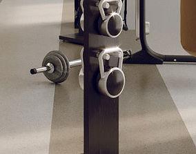 Hock Lova kettlebell rack 3D
