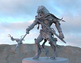 Lizard man with spear 3D model