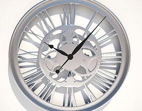 Wall Clock Gear Kare Design 3D model