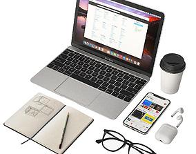 Workplace MacBook 12 3D model