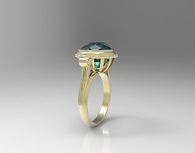 3D print model Simple ring with big gem