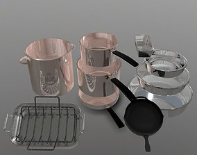 Pots and Pans 3D asset