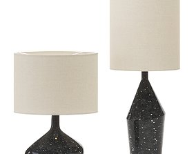 Asymmetry Ceramic Table Lamps - West Elm 3D