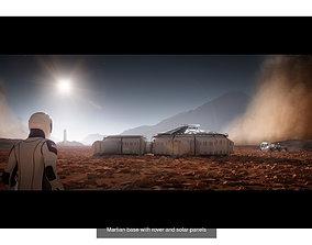 3D model Space explorer bundle Martian base and SpaceX