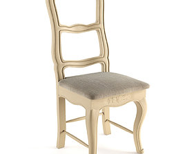 Iban Solid Wood Upholstered Dining Chair 3D
