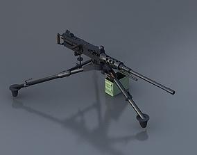 3D model M2HB Machine Gun