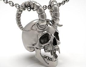 silver 3D print model Skull