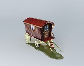 3D Romany Wagon READING Style Amended