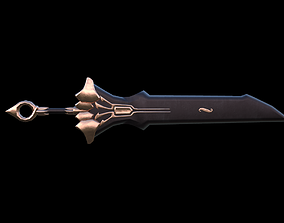Great Sword - Unique material Lowpoly 3D model
