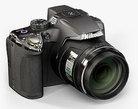 3D asset Nikon Coolpix P510 Black