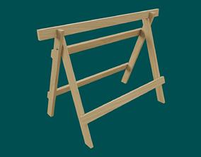 3D model Wooden Sawhorse