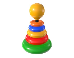 Pyramid colored toy 3D model