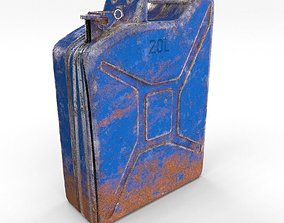 Jerry Can Weathered 3 PBR 3D model
