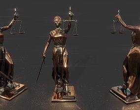 3D model LADY JUSTICE