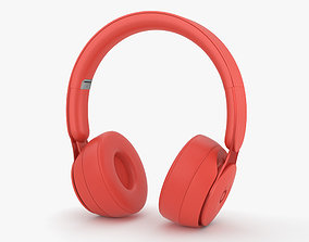 Beats Solo Pro Red 3D