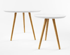 3D model Set of 2 coffee tables BLOOMINGVILLE