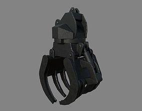 3D asset VR / AR ready Construction Grapple Claw