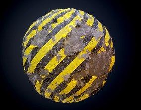 3D model Concrete Damaged Decay Seamless PBR Texture