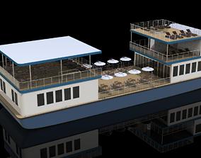 recreational 3D model tour boat