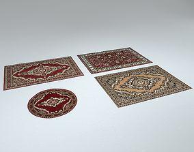 3D asset 4 Persian Rugs