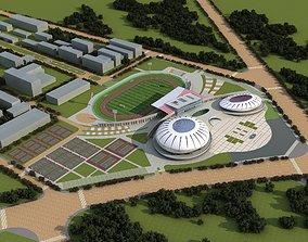 Classy Stadium Exterior 3D model